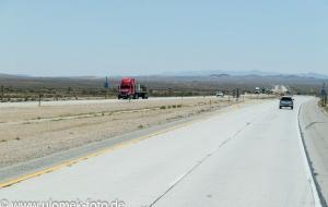 durch Mojawe Wüste nach Las Vegas,